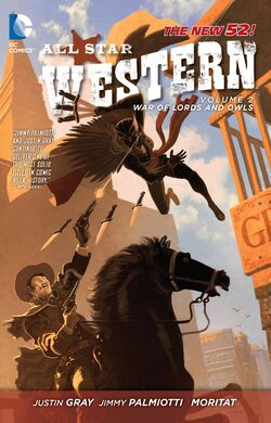 Cover for the All-Star Western: War of Lords and Owls Trade Paperback