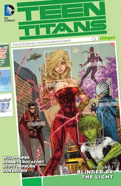 Cover for the Teen Titans: Blinded by the Light Trade Paperback