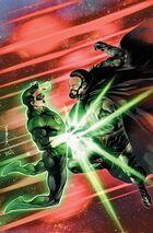 Zod battles Hal Jordan