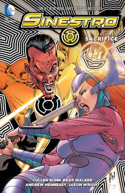Cover for the Sinestro: Sacrifice Trade Paperback