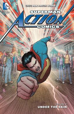 Cover for the Action Comics: Under the Skin Trade Paperback