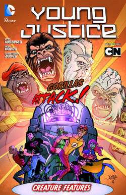 Cover for the Young Justice: Creature Features Trade Paperback