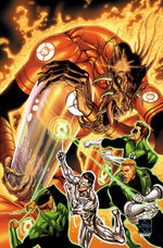Larfleeze battles the Greens