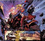 Supergirl fighting Rogol Zaar