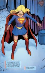 Supergirl puts her new solar-collector suit on