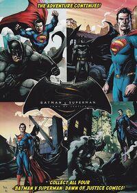 General Mills Presents Batman v Superman Dawn of Justice vol 1 back cover