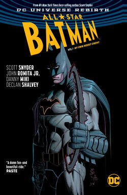 Cover for the All-Star Batman: My Own Worst Enemy Trade Paperback