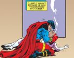 Adult Superboy mourning Tana Moon.