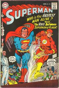 Superman's historic first race with the Flash