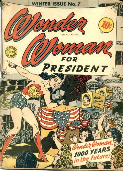 Wonder Woman FOR PRESIDENT Comic Cover Women/'s T-Shirt All Sizes