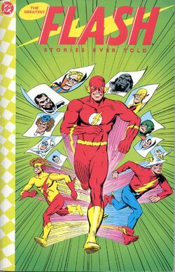 Cover for the The Greatest Flash Stories Ever Told Trade Paperback