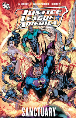 Cover for the Justice League of America: Sanctuary Trade Paperback