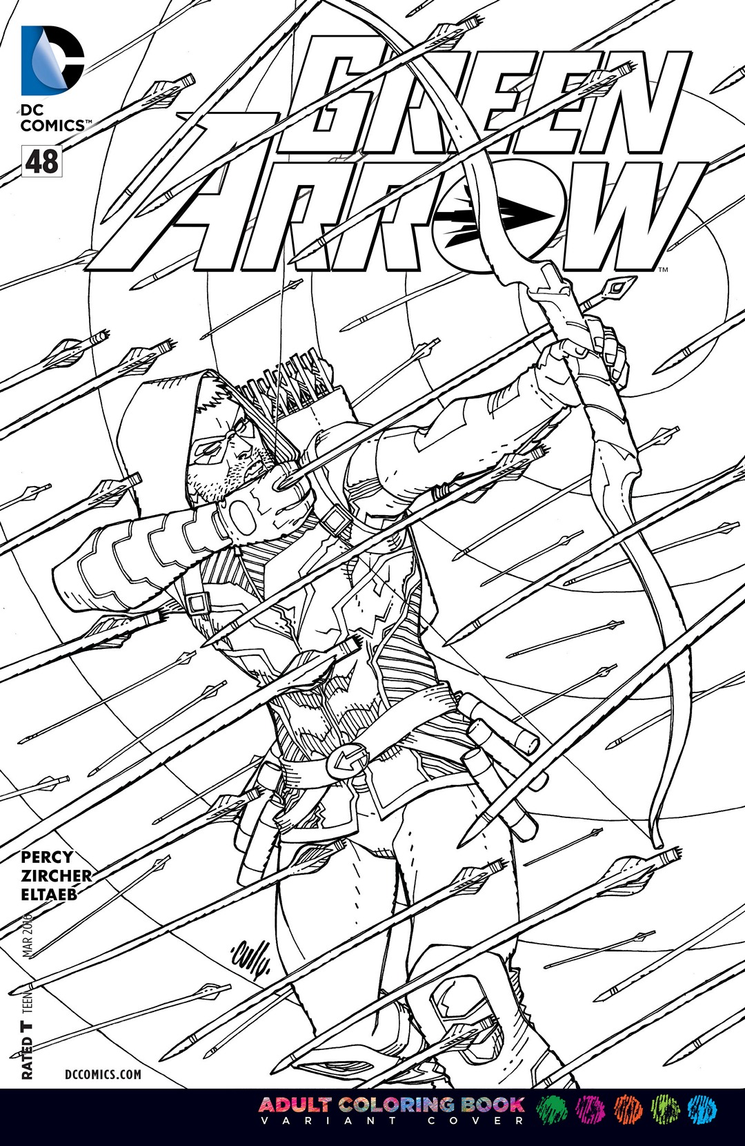 Green Arrow Vol 5 48 Adult Coloring Book Variant