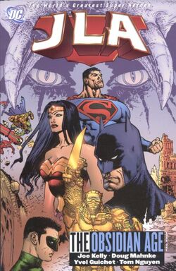 Cover for the JLA: The Obsidian Age Book One Trade Paperback