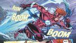 Wally races through the multiverse