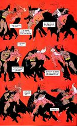 Batman defeats Blackfire