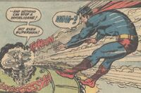 Superman meets Whirlicane, self-proclaimed master of whirlwind and hurricane