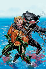 Black Manta terrorizing Aquaman