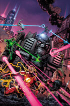 Murder Machine butchers the Justice League