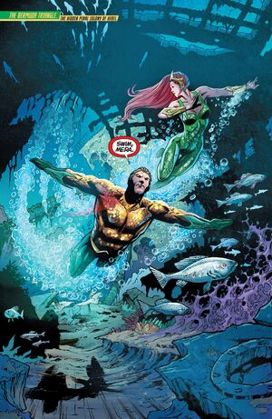 Aquaman and Mera rush to save Atlantis from the Scavenger.