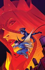 Batgirl and Nightwing face the Red Queen