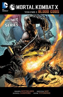 Cover for the Mortal Kombat X: Blood Gods Trade Paperback