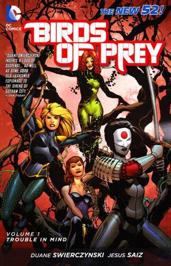 Cover for the Birds of Prey: Trouble in Mind Trade Paperback