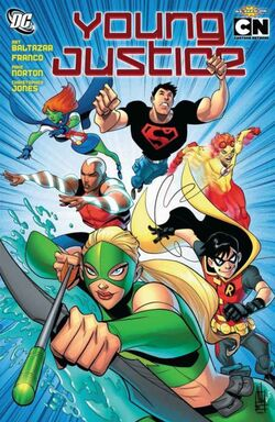Cover for the Young Justice Trade Paperback