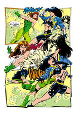 Poison Ivy and Cheshire attack Diana