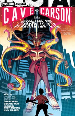 Cover for the Cave Carson Has a Cybernetic Eye: Every Me, Every You Trade Paperback