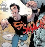 A version of Superboy from a long time ago.