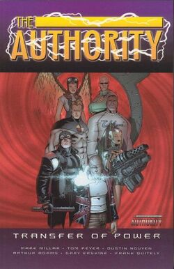 Cover for the The Authority: Transfer of Power Trade Paperback