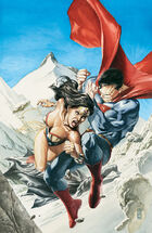 Superman fights Wonder Woman under Maxwell Lord's control.