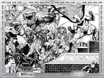 Torpedo Comics Exclusive B&W Arthur Adams Wraparound Cover