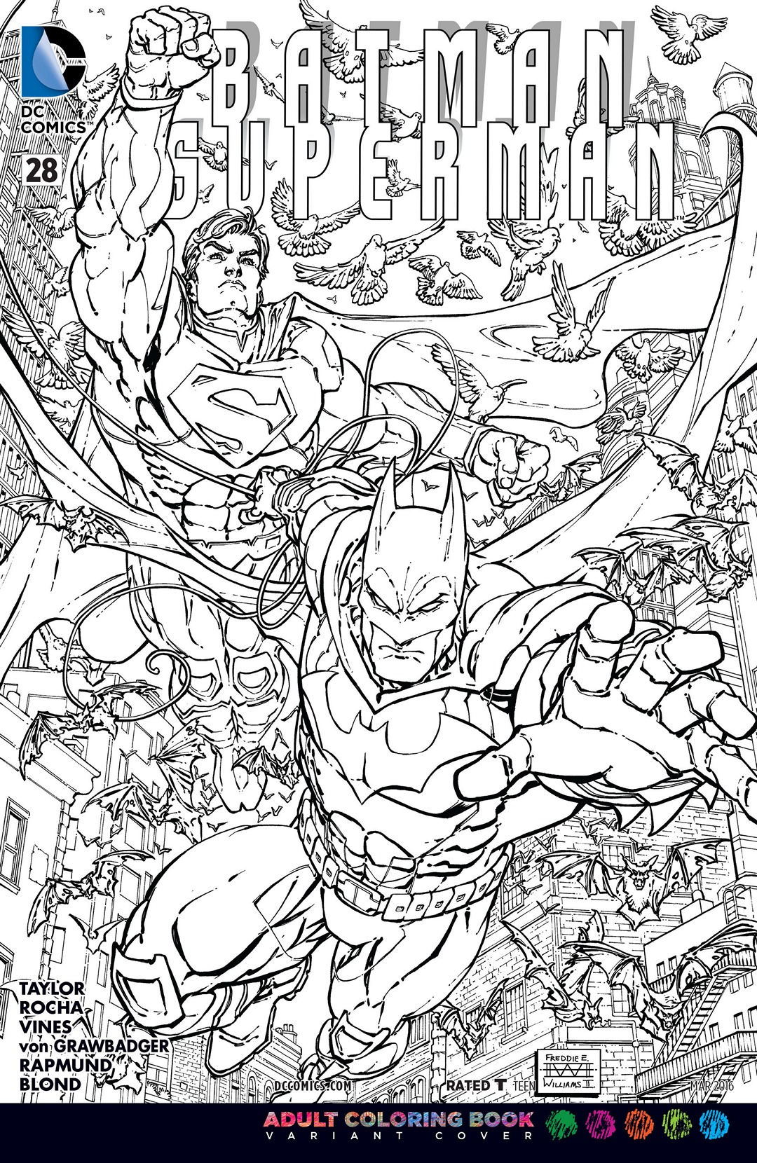 Batman Superman Vol 1 28 Adult Coloring Book Variant