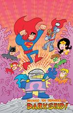 The Justice League battles Darkseid