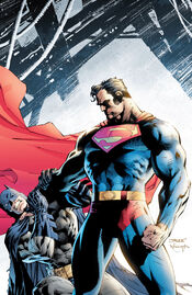 Superman fights with Batman