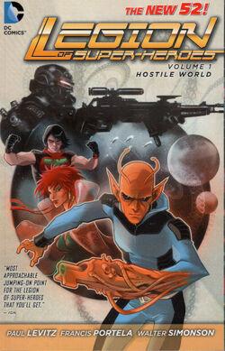 Cover for the Legion of Super-Heroes: Hostile World Trade Paperback