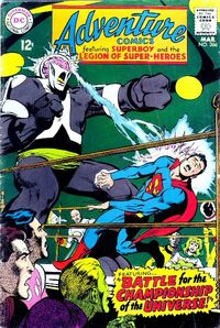 Superboy in the ring with Validus