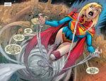 Supergirl looks for Cyborg Superman
