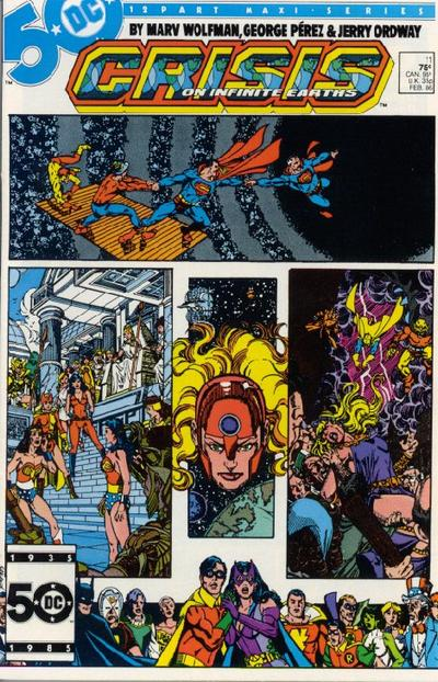 Image result for crisis on infinite earths #11