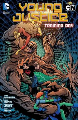 Cover for the Young Justice: Training Day Trade Paperback