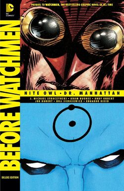 Cover for the Before Watchmen: Nite Owl/Dr. Manhattan Trade Paperback