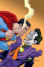 The Harlequin of Hate battles the Man of Steel