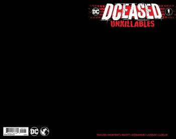 Unknown Comics Exclusive Black Blank Variant