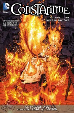Cover for the Constantine: The Voice in the Fire Trade Paperback