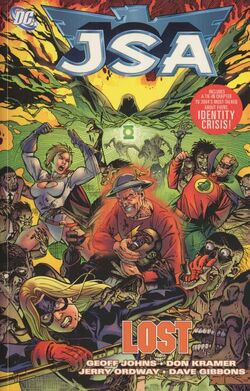 Cover for the JSA: Lost Trade Paperback
