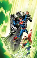 Fighting alongside Superman!