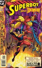 Superboy battles Etrigan.