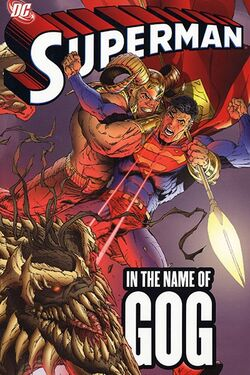 Cover for the Superman: In the Name of Gog Trade Paperback